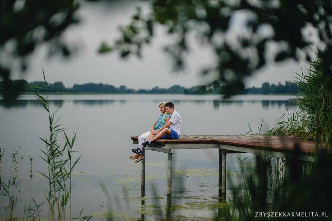 Sesja narzeczenska Ewa Konrad Jeziora Wielkie zbigniew karmelita fotografia konin 0002 -