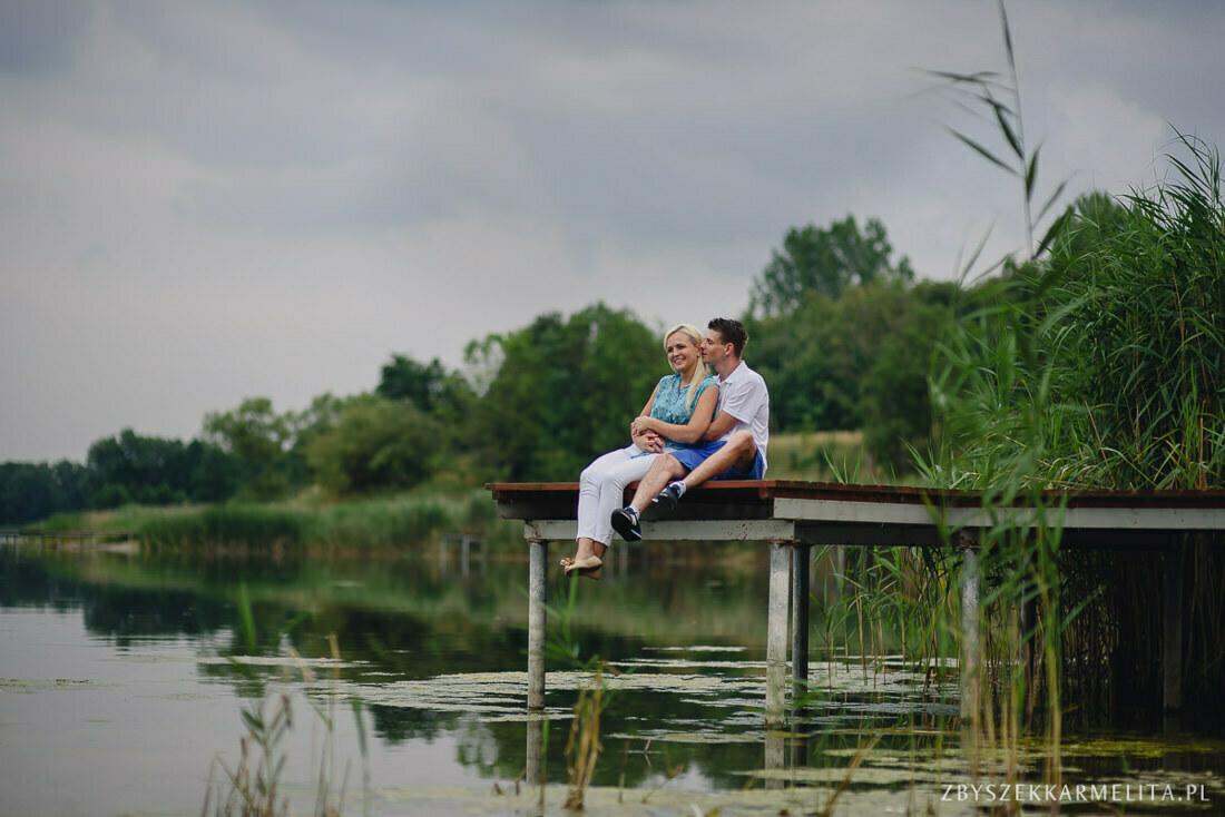 Sesja narzeczenska Ewa Konrad Jeziora Wielkie zbigniew karmelita fotografia konin 0003 -