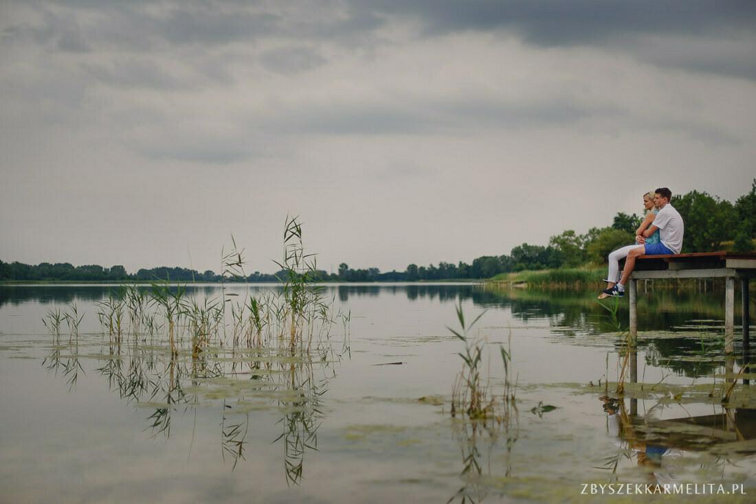 Sesja narzeczenska Ewa Konrad Jeziora Wielkie zbigniew karmelita fotografia konin 0005 -